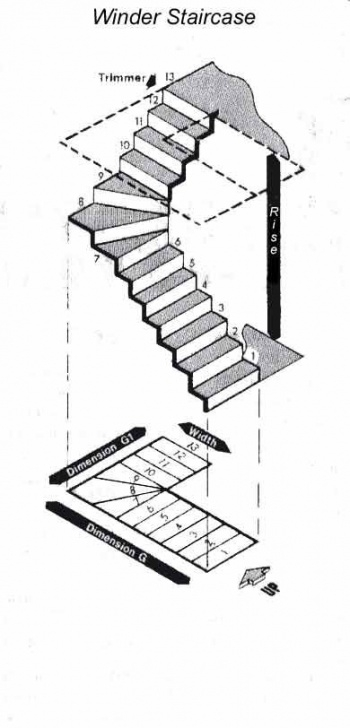 Steel Stair Case And Its Dimension Measuring A Staircase With A 90 Degree Winder Turn (With Picture 876