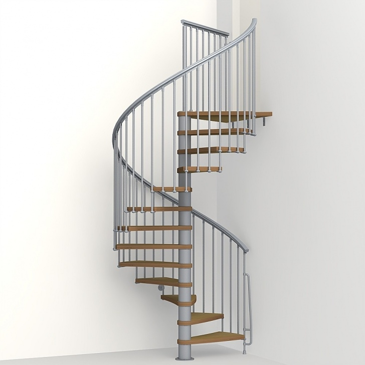 """The Iron Shopfloating Staircase Kits Arke 51""""D Nice1 Wood Tread Spiral Staircase Kits - 102-3/4 Picture 433"""