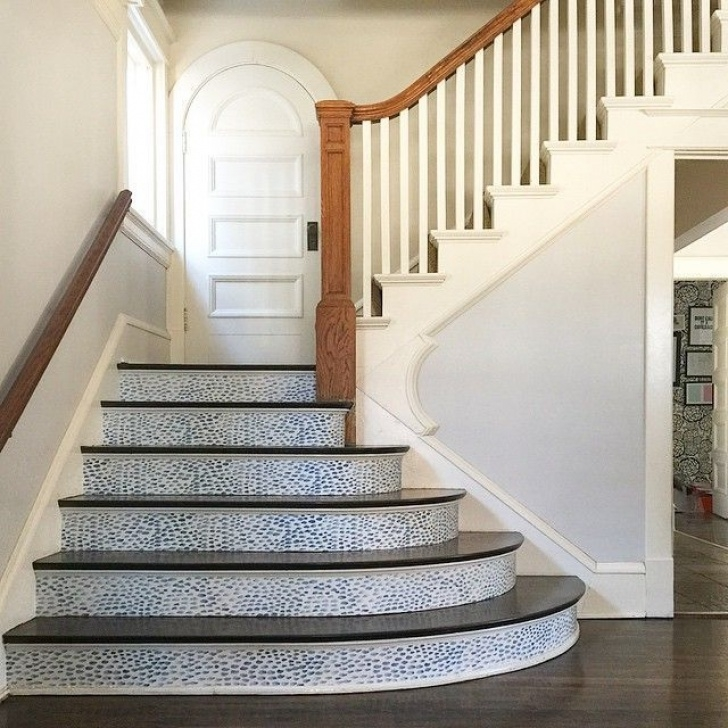 Tile Stair Risers 6 Inventive Ways To Use Up Wallpaper Scraps (Or Just One Image 430