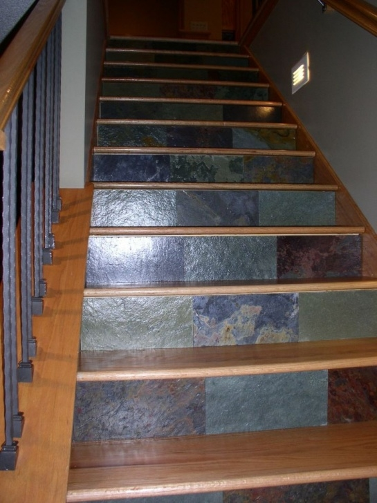 Tile Staircase Ideas Ooh, Pretty!! Granite Scraps To Decorate Stair Risers Picture 332