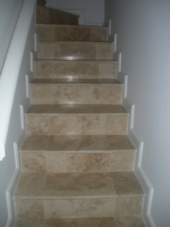 Tile Staircase Ideas Travertine Tile Steps - Tropical - Swimming Pool & Hot Tub Picture 605