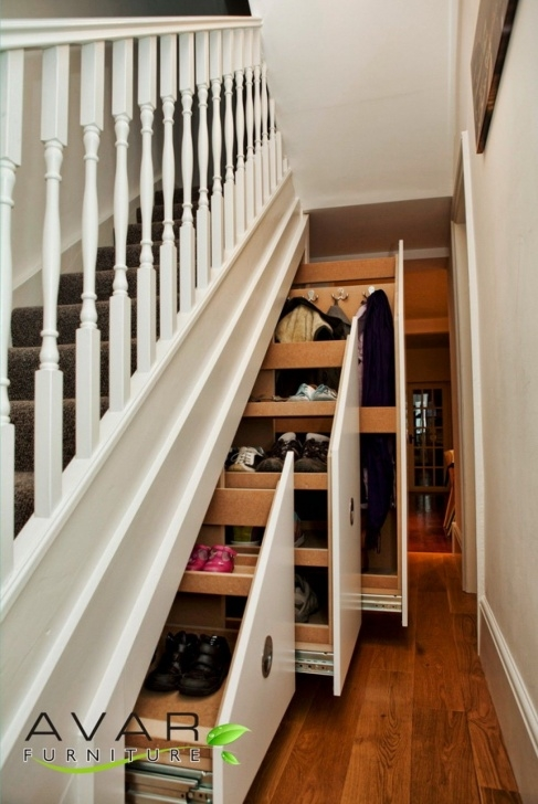 Under Stairs Storage Plans Under Stairs Storage In White Wooden Stairs And Racks With Photo 423