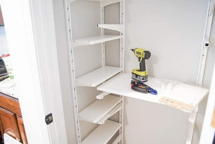 Under Stairs Storage Shelves Diy How To Organize A Closet Under The Stairs & Pantry Photo 244