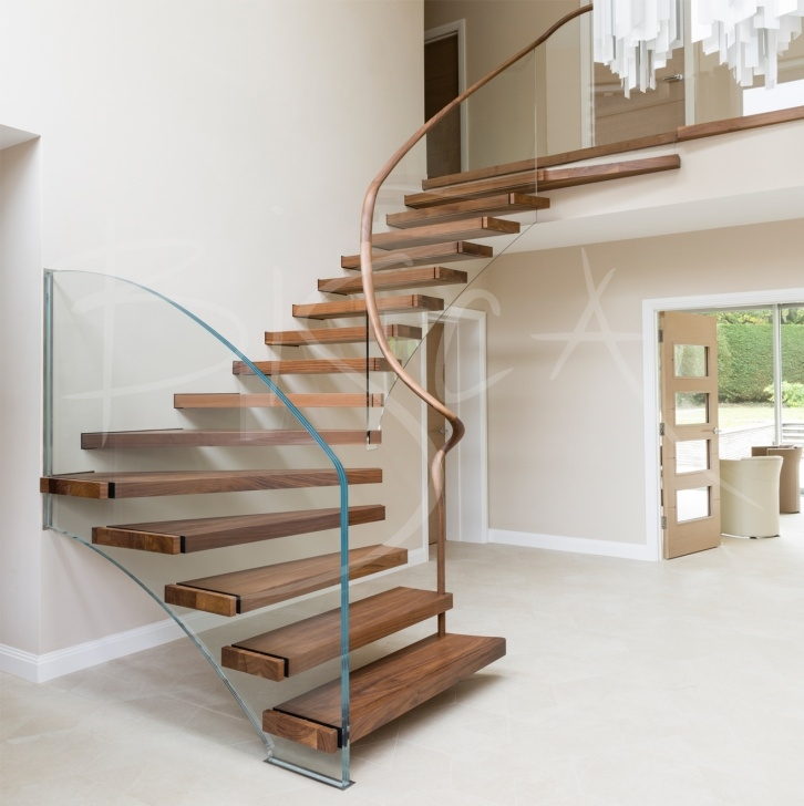 Wall Mounted Floating Stairs Floating Stairs   Open Tread Staircase With Glass Photo 388