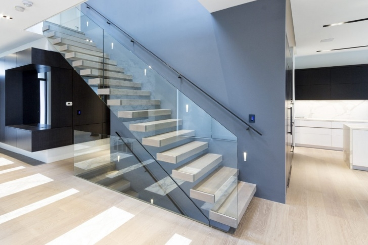 Wall Mounted Floating Stairs Mrail Modern Stairs   Floating Stairs Image 614