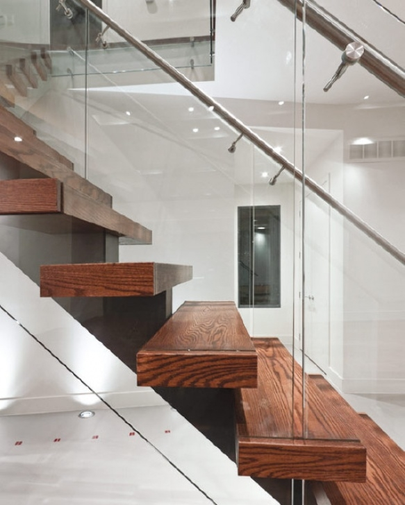 Wall Mounted Floating Stairs Mrail Modern Stairs   Mono Stringer Stairs Image 817