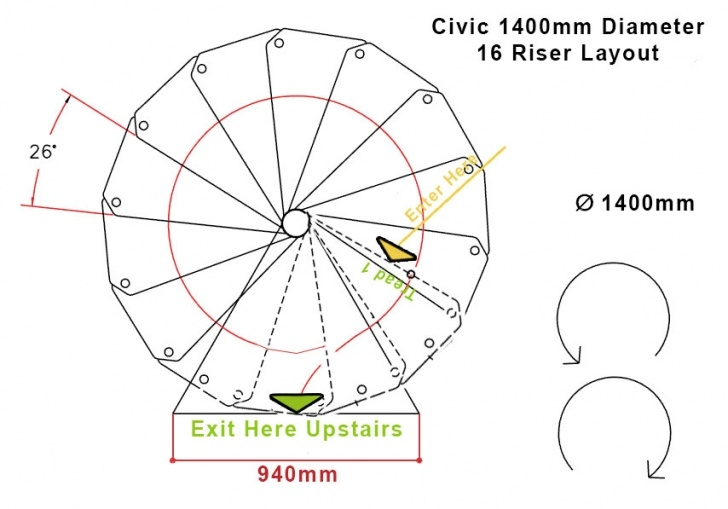 What Is The Standard Diameter Of A Circular Staircase External Spiral Staircase - 1400Mm Diameter Image 513
