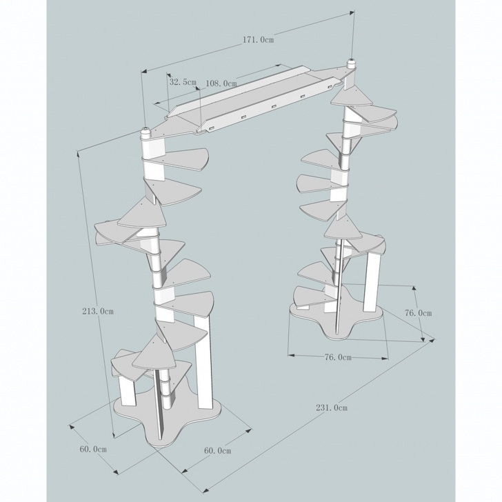 What Is The Standard Diameter Of A Circular Staircase Modular Cat Spiral Staircase - Woozi Picture 253